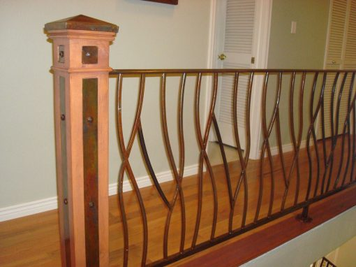 Ornate Railing Incorporating Wood